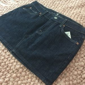 7 For All Mankind mini jean skirt